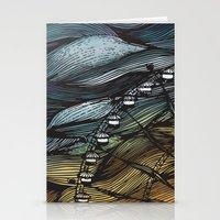 ferris wheel Stationery Cards featuring Ferris Wheel by Juliana Caju