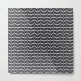 Geometric Pattern In Perspective Metal Print