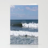 surfer Stationery Cards featuring Surfer by moonstarsunnj