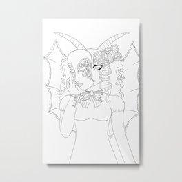 Winged Masquerade Metal Print