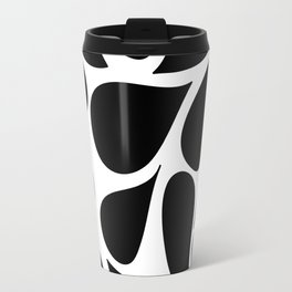Abstract Black & White Foliage Pattern - Mix and Match with Simplicity of Life Travel Mug