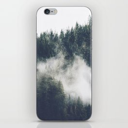 Abstract Forest Fog iPhone Skin