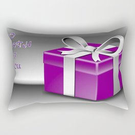 A Purple Wrapped Gift Box To Both Of You Rectangular Pillow