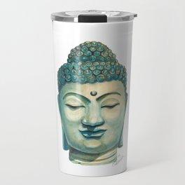 Buddha Head Statue Travel Mug