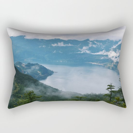 Fog over the water in Squamish BC Rectangular Pillow