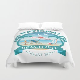 National Beach Day Duvet Cover