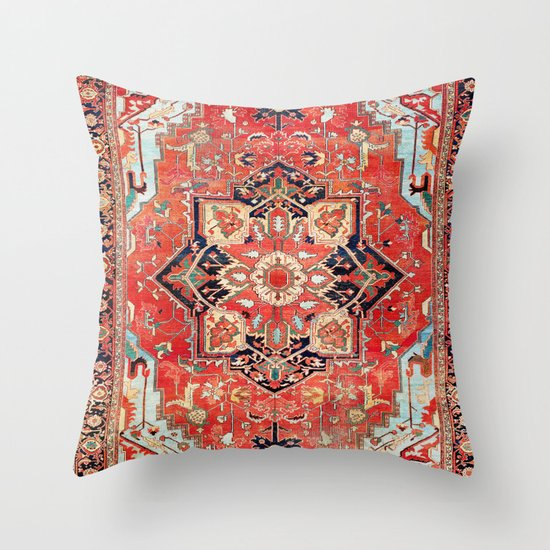 Heriz Azerbaijan Northwest Persian Rug Print by vickybragomitchell