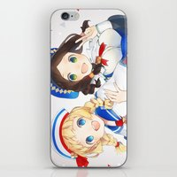 monster hunter iPhone & iPod Skins featuring Monster Hunter 3 Receptionists by weee