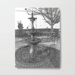 Peaceful Fountain Art Metal Print