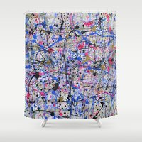 trip Shower Curtains featuring TRIP by Art Book Of  Amanda