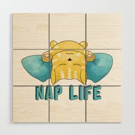 Nap Life Wood Wall Art