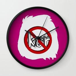 Dun Kur Bear [Don't Care Bear Pink] Wall Clock