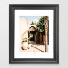 Morocco - design - decoration - arabic - africa - door - plants - green - print - art - travel Framed Art Print