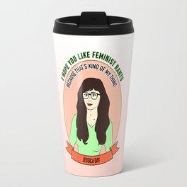 Jessica Day / New Girl Print Travel Mug