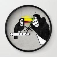 toucan Wall Clocks featuring Toucan by martiszu