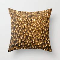 chandelier Throw Pillows featuring Chandelier  by Emily Joie de Vivre