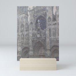 The Cathedral in Rouen. The portal, Grey Weather Mini Art Print