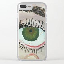 Scopophobia Clear iPhone Case