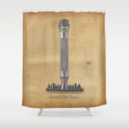 vintage gillette.good old days Shower Curtain