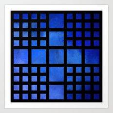 Cappanella V1 - blue squares Art Print