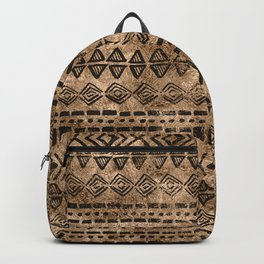 Ancient  Gold and Black Tribal Ethnic  Pattern Backpack