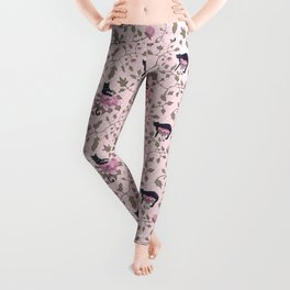 Cats on a flower matrix Leggings