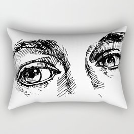 my face (the most important parts) Rectangular Pillow