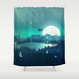 Beneath Barafundle Shower Curtain