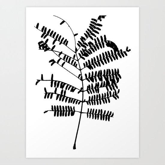 Leaf #Black Art Print