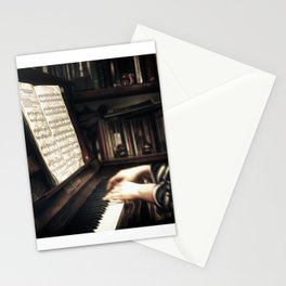 Music. The piano lesson. Stationery Cards