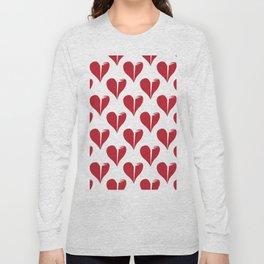 Seamless pattern with broken hearts Long Sleeve T-shirt