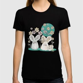 Pastel easter eggs and bunnys III T-shirt