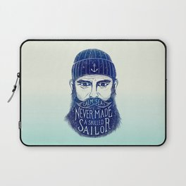 CALM SEAS NEVER MADE A SKILLED (Blue) Laptop Sleeve