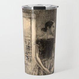 Childe Hassam - Girl in a Modern Gown Travel Mug