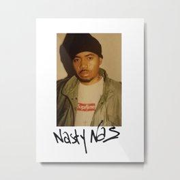 Supreme Nasty Nas Tee Metal Print