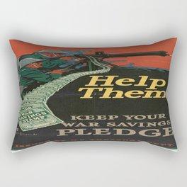 Vintage War Bonds Poster Rectangular Pillow