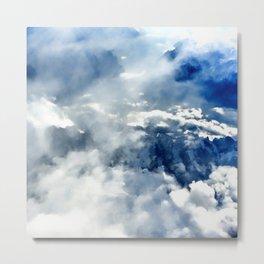 Flight over the Alps Metal Print