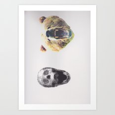 Skullz and Bearz Art Print