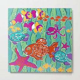 All the Little Fishes Metal Print