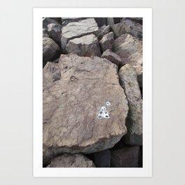 Panda Rock Art Print