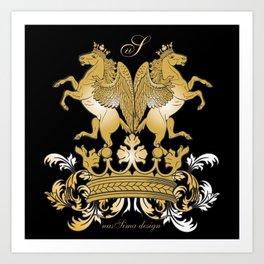 The Royal Horses (Black) Collection Art Print