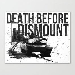 Death Before Dismount Canvas Print