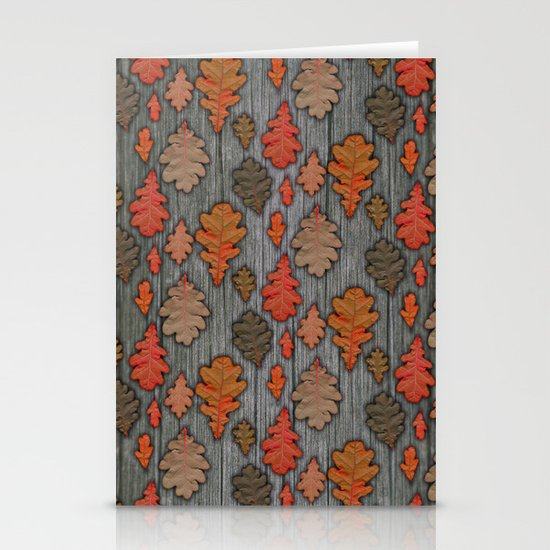 Patterns of Nature - Autumn Oak Leaves Stationery Cards