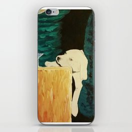 sleepy puppy iPhone Skin