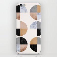 Circle Granite Quaters iPhone & iPod Skin