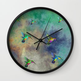 Secret Escape Hummingbird Design Wall Clock