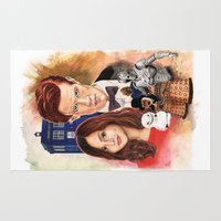 doctor who Area & Throw Rugs featuring Doctor Who by Richard Howard