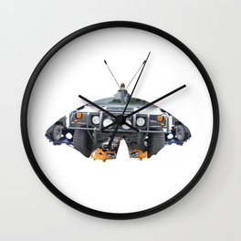 Butterfly Hummer Collage Wall Clock