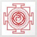 Sri Yantra Root Chakra by iamcosmosis