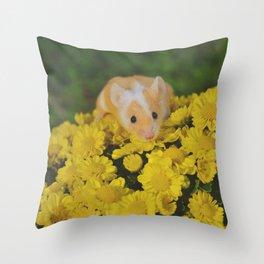 Penny in the Garden Throw Pillow